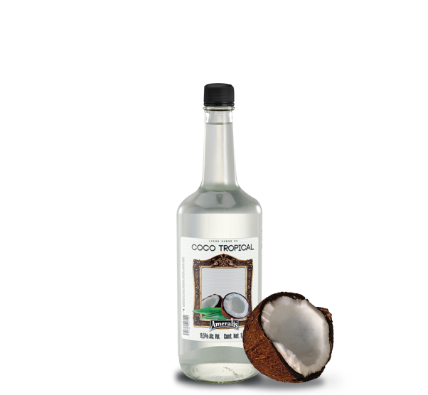 Licor sabor de Coco Tropical